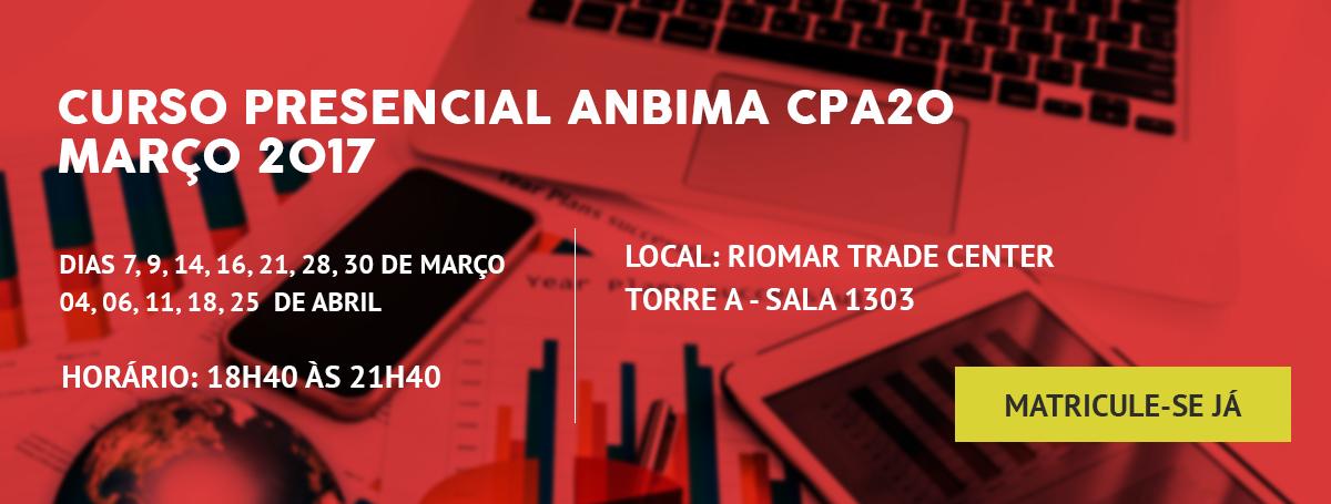 CPA20 - Curso Presencial Anbima (Antonio Amorim)